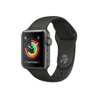 Grade A Apple Watch Series 3 GPS 42mm Space Grey Aluminium Case with Grey Sport Band