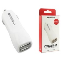 Charge-It Dual USB In-Car Charger - 2.1A 1A USB