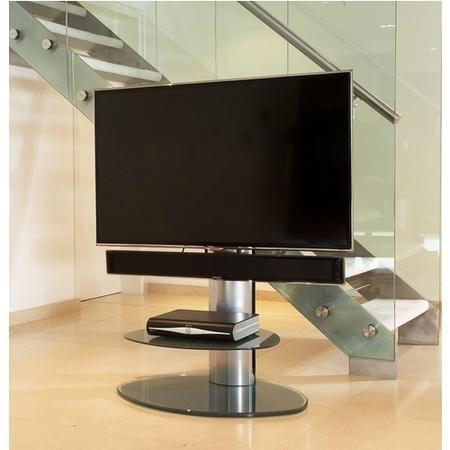 Off The Wall Motion Silver TV Stand - Up To 55 inch