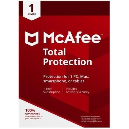 McAfee 2018 Total Protection 1 Device