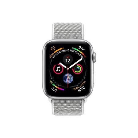 Apple Watch Series 4 GPS + Cellular 44mm Silver Aluminium Case with Seashell Sport Loop