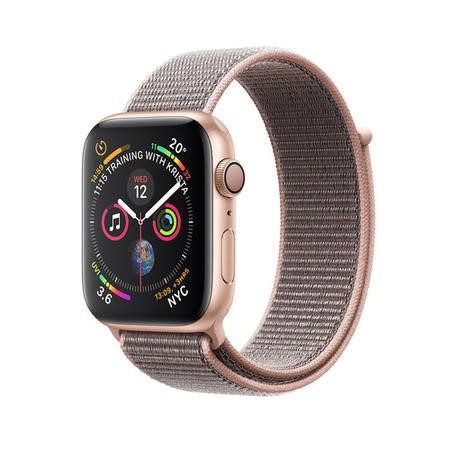 Apple Watch Series 4 GPS + Cellular 44mm Gold Aluminium Case with Pink Sand Sport Loop