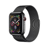 Apple Watch Series 4 GPS + Cellular 44mm Space Black Stainless Steel Case with Space Black Milanese