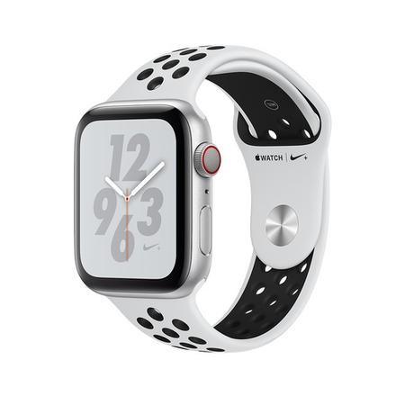 Apple Watch Nike+ Series 4 GPS + Cellular 40mm Silver Aluminium Case with Pure Platinum/Black Nike