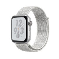 Apple Watch Nike+ Series 4 GPS + Cellular 44mm Silver Aluminium Case with Summit White Nike Sport L