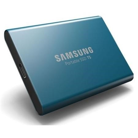 Samsung Blue T5 500GB Type C Portable SSD