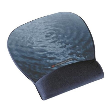 3M Precise Mousing Surface with Fabric  Gel Wrist Rest Blue Water