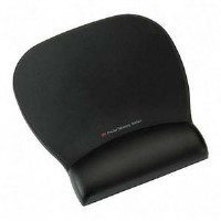 3M Precise Mousing Surface with Leatherette Gel Wrist Rest - Black