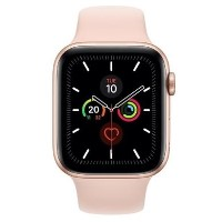 GRADE A1 - Apple Watch Series 5 GPS + Cellular 44mm Gold Aluminium Case with Pink Sand Sport Band