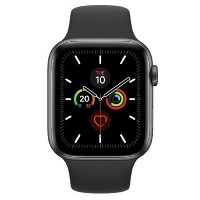 Apple Watch Series 5 GPS + Cellular 44mm Space Grey Aluminium Case with Black Sport Band