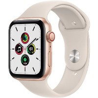 Apple Watch Series 5 GPS + Cellular 44mm Gold Stainless Steel Case with Stone Sport Band
