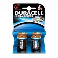 Duracell Ultra Power C Size 1 x 2 Pack