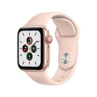 Apple Watch SE GPS + Cellular - 40mm Gold Aluminium Case with Pink Sand Sport Band - Regular