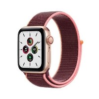 Apple Watch SE GPS + Cellular - 40mm Gold Aluminium Case with Plum Sport Loop