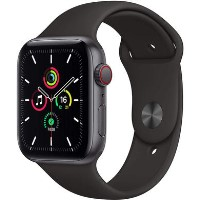 Apple Watch SE GPS + Cellular - 40mm Space Gray Aluminium Case with Black Sport Band - Regular