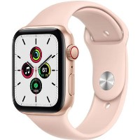 Apple Watch SE GPS + Cellular - 44mm Gold Aluminium Case with Pink Sand Sport Band - Regular