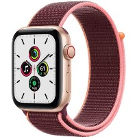 Apple Watch SE GPS + Cellular - 44mm Gold Aluminium Case with Plum Sport Loop
