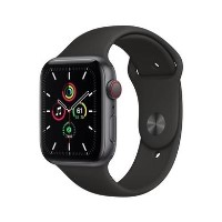 Apple Watch SE GPS + Cellular - 44mm Space Gray Aluminium Case with Black Sport Band - Regular