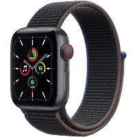 Apple Watch SE GPS + Cellular - 44mm Space Gray Aluminium Case with Charcoal Sport Loop
