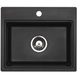 Astracast MZ10RZHOMESK Monza Single Square Bowl ROK Metallic Composite Sink in Black