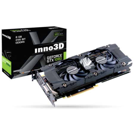 INNO3D Twin X2 GeForce GTX 1080 8GB GDDR5X Graphics Card