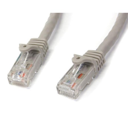 StarTech.com 3m Gray Gigabit Snagless RJ45 UTP Cat6 Patch Cable - 3 m Patch Cord