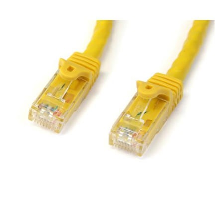 StarTech.com 3 ft Yellow Gigabit Snagless RJ45 UTP Cat6 Patch Cable - 3ft Patch Cord