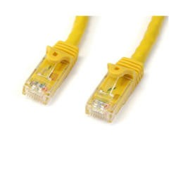 StarTech.com 25 ft Yellow Gigabit Snagless RJ45 UTP Cat6 Patch Cable - 25ft Patch Cord