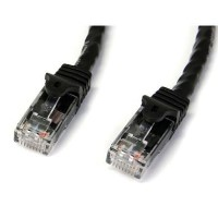 StarTech.com 50 ft Black Gigabit Snagless RJ45 UTP Cat6 Patch Cable - 50ft Patch Cord