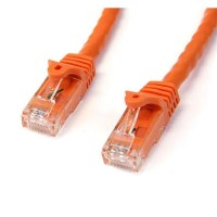 StarTech.com 50 ft Orange Gigabit Snagless RJ45 UTP Cat6 Patch Cable - 50ft Patch Cord