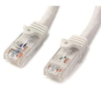 StarTech.com 50 ft White Gigabit Snagless RJ45 UTP Cat6 Patch Cable - 50ft Patch Cord