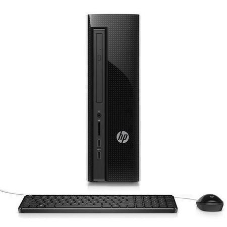 a1/N8W94EA Refurbished HP 450-a110na AMD E1-6015 4GB 1TB DVD-RW Windows 10 AMD Radeon HD 8240 4GB Desktop PC in Black
