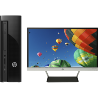 "HP 450-a161nam AMD A6-6310 4GB RAM 1TB AMD Radeon R4 HDD DVD-RW Windows 10 Desktop with 22"" Monitor"