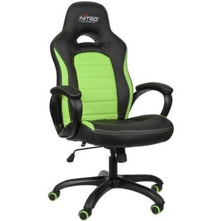 Nitro Concepts C80 Pure Series Gaming Chair - Black/Green