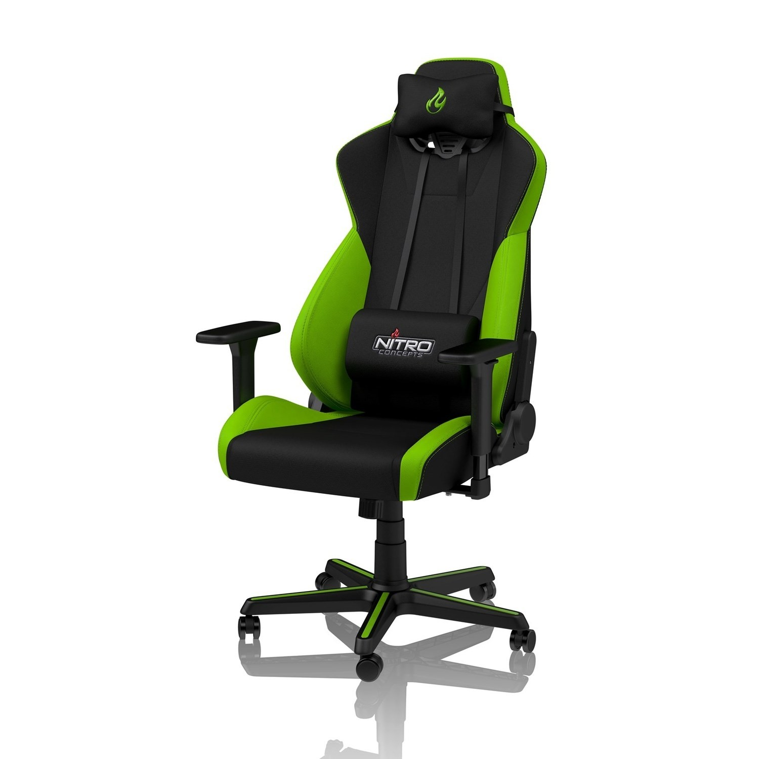 Stupendous Nitro Concepts S300 Fabric Gaming Chair In Atomic Green Ibusinesslaw Wood Chair Design Ideas Ibusinesslaworg