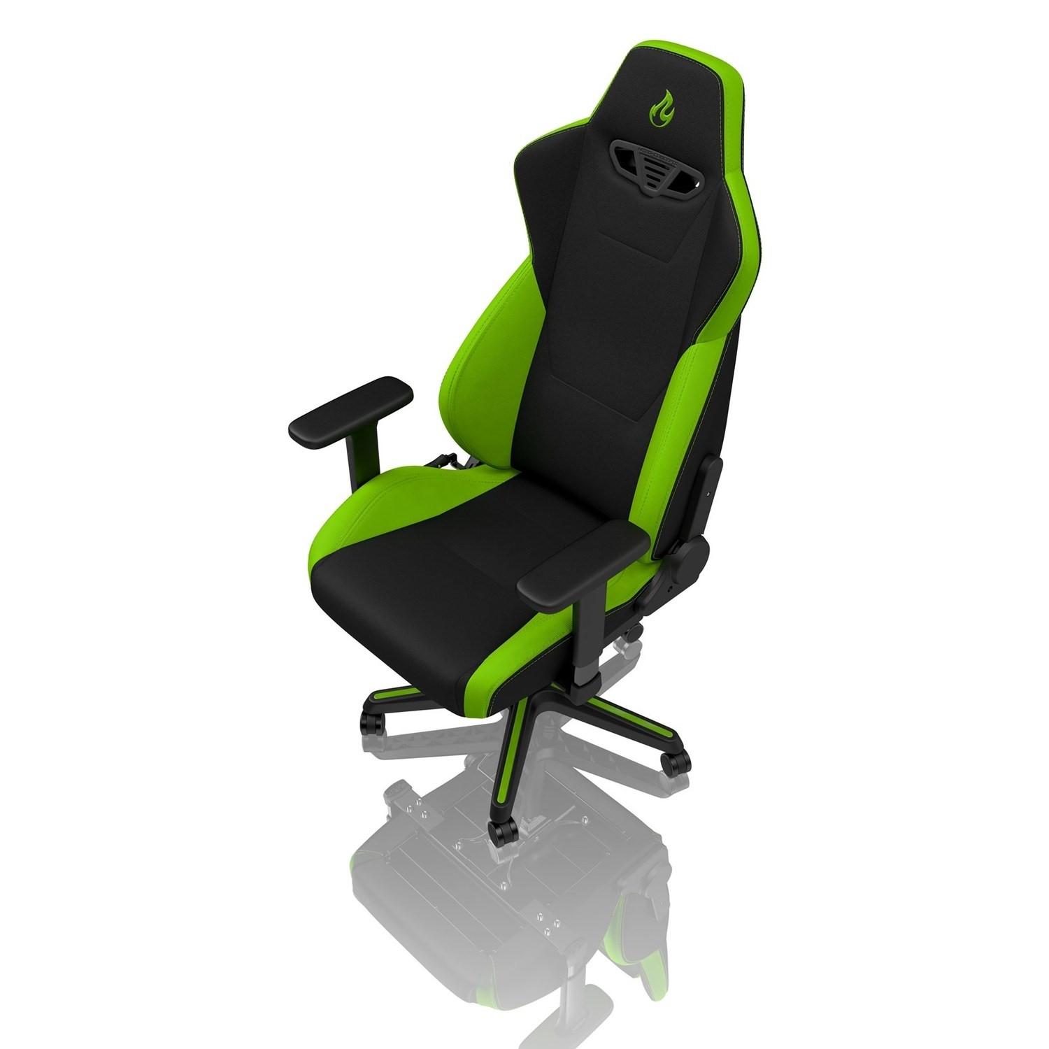 Awesome Nitro Concepts S300 Fabric Gaming Chair In Atomic Green Ibusinesslaw Wood Chair Design Ideas Ibusinesslaworg