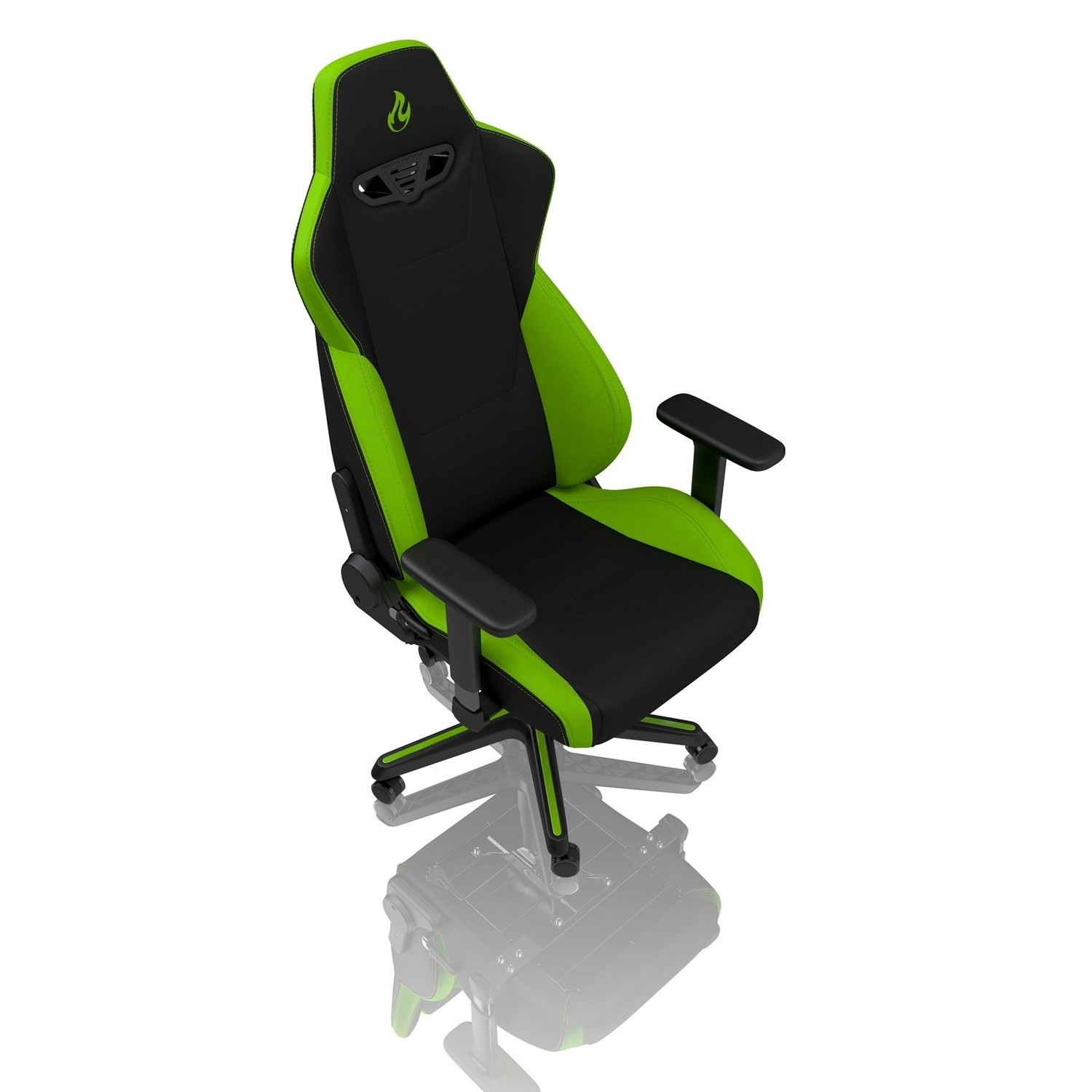Surprising Nitro Concepts S300 Fabric Gaming Chair In Atomic Green Ibusinesslaw Wood Chair Design Ideas Ibusinesslaworg