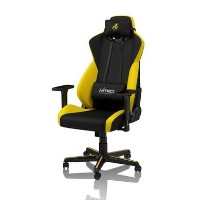 Nitro Concepts S300 Fabric Gaming Chair in Astral Yellow