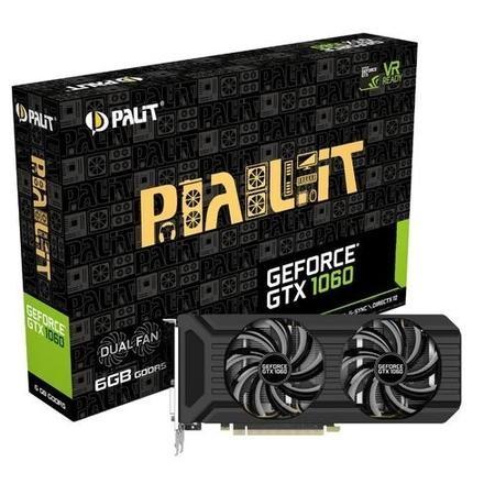 Palit Dual GeForce GTX 1060 6GB GDDR5 Graphics Card