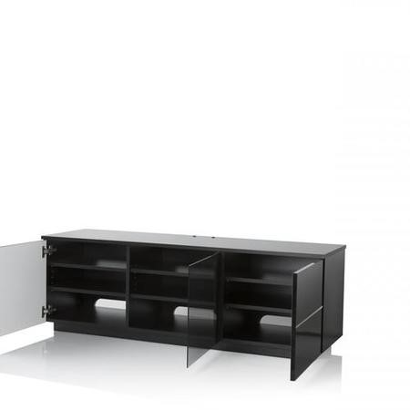 "UK-CF New London Black TV Cabinet for up to 65"" TVs"