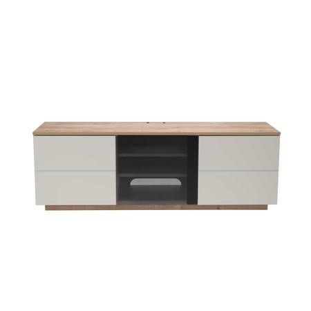 "UK-CF New London Oak/Cream TV Cabinet for up to 65"" TVs"