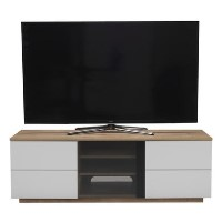 "UK-CF New London TV Cabinet for up to 65"" TVs - Oak/White"