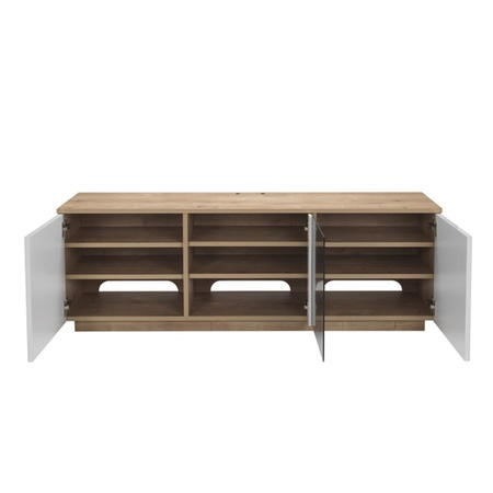 "UK-CF New London Oak/White TV Cabinet for up to 65"" TVs"