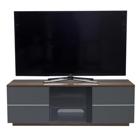 "UK-CF New London TV Cabinet for up to 65"" TVs - Walnut/Grey"
