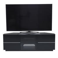 UK-CF New Milan Black Corner TV Cabinet