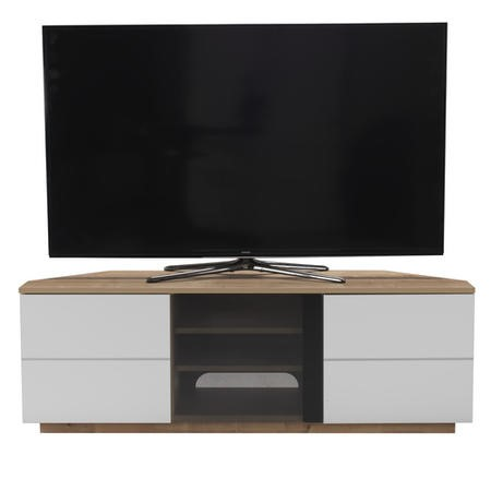 "UK-CF New Milan TV Cabinet for up to 65"" TVs - Oak/White"