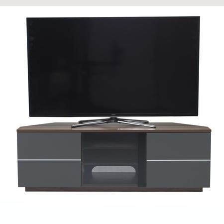 "UK-CF New Milan TV Cabinet for up to 65"" TVs - Walnut/Grey"