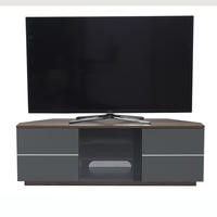 "UK-CF New Milan Walnut/Grey TV Cabinet for up to 65"" TVs"