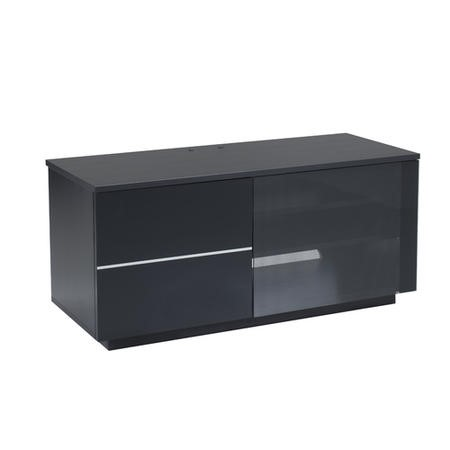 "UK-CF New Paris Black TV Cabinet for up to 55"" TVs"