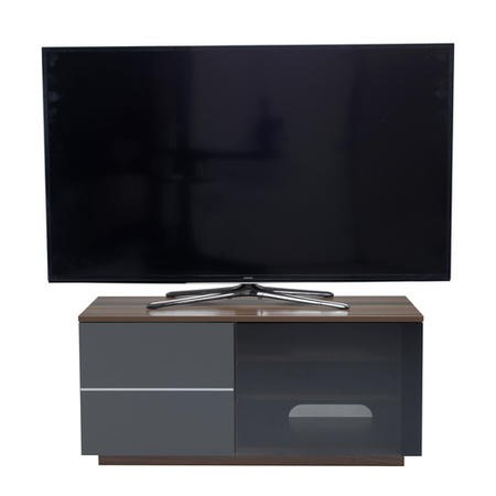 "UK-CF New Paris Walnut/Grey TV Cabinet for up to 55"" TVs"